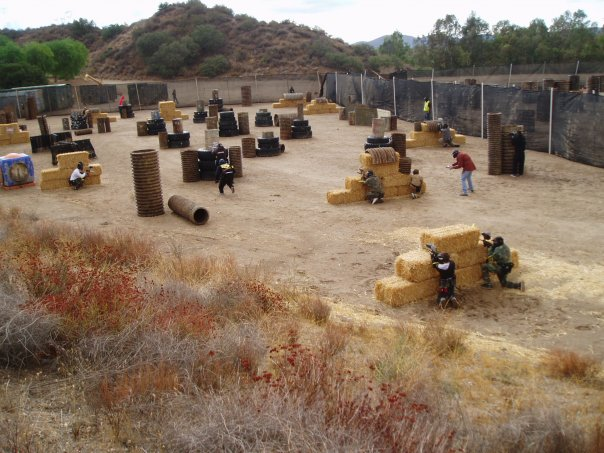 Haybales Course at Paintball USA