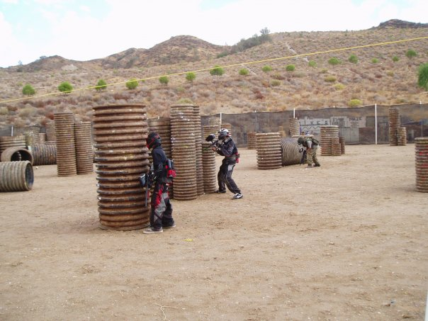 One of the two Hyperball Courses at Paintball USA