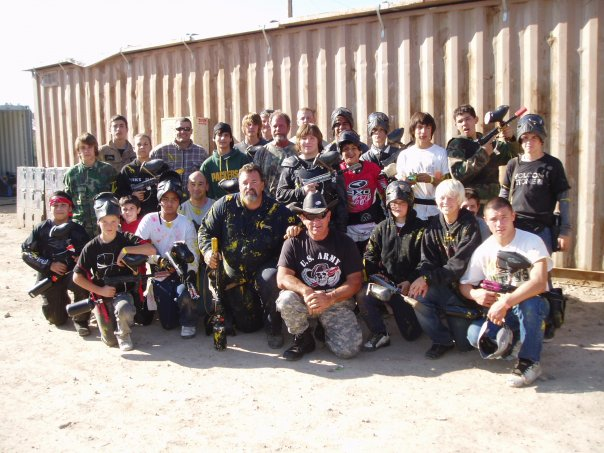 Paintball players at Paintball USA near LA in Santa Clarita, California