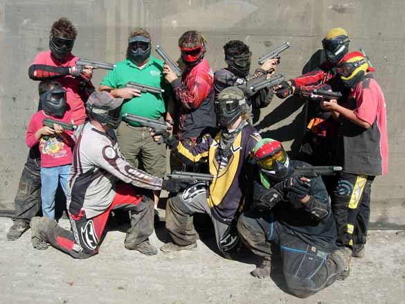 Fun atmosphere at TAG Paintball