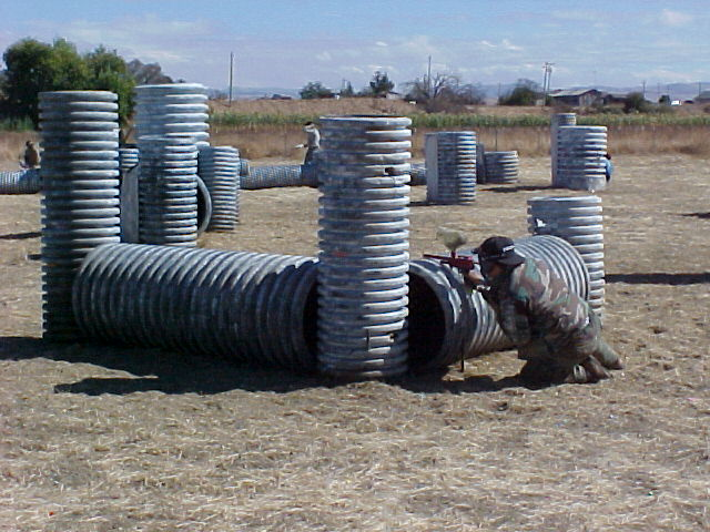 Hyper Pipe course at TAG Paintball